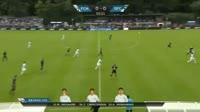 Andre Riel scores in the match Helsingor vs Randers FC