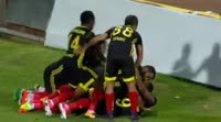 Khalid Boutaib scores in the match Yeni Malatyaspor vs Antalyaspor