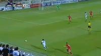 Andre Schembri scores in the match Apollon Limassol vs Aberdeen