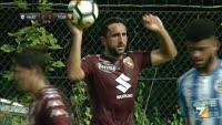 Simone Edera scores in the match Torino vs Huddersfield