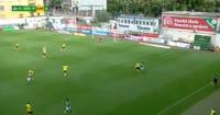 David Bartek scores in the match Bohemians 1905 vs MFK Karvina