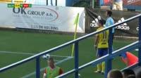 Petr Pavlik scores own goal in the match Zlin vs Brno