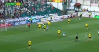 Milan Jirasek scores in the match Bohemians 1905 vs MFK Karvina