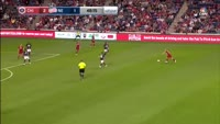 Michael de Leeuw scores in the match Chicago Fire vs New England Revolution
