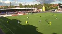Sigurd Rosted scores own goal in the match Sarpsborg 08 vs Haugesund