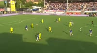 Marko Cosic scores own goal in the match Sarpsborg 08 vs Haugesund