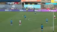 David Villa scores in the match New York City vs New York Red Bulls