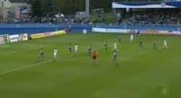 Fabian Miesenbock scores in the match Neustadt vs Hartberg