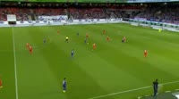 Cebio Soukou scores in the match Heidenheim vs Aue