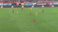 Khalid Boutaib scores in the match Morocco vs Mali