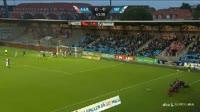 Jakob Blaabjerg scores in the match Aalborg vs Silkeborg