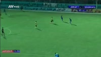 Farshad Salarvand scores in the match Pars Janoobi Jam vs Esteghlal TEH