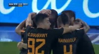 Edin Dzeko scores in the match AS Roma vs Verona