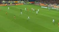 Jeanricner Bellegarde scores in the match Lens vs Quevilly