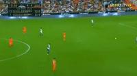 Valencia 5-0 Málaga - Golo de Santi Mina (17min)