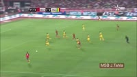 Achraf Hakimi scores in the match Morocco vs Mali