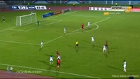 Joevin Jones scores in the match Trinidad & Tobago vs Honduras