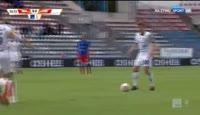 Pawel Zawistowski scores in the match Odra Opole vs Chojniczanka