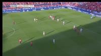 Unai Garcia scores in the match Osasuna vs Huesca