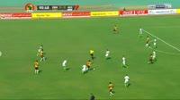 Brian Mwila scores in the match Zambia vs Algeria