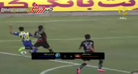Reza Khaleghifar scores in the match Meshki Pooshan vs Gostaresh