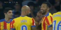 Real Sociedad 2-3 Valencia - Golo de Nacho Vidal (55min)