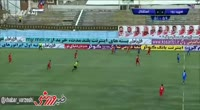 Jaber Ansari scores in the match Sepidrood Rasht vs Esteghlal TEH