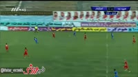 Dariush Shojaeian scores in the match Sepidrood Rasht vs Esteghlal TEH