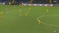 Astana 1-1 Slavia Praha - Golo de M. Tomasov (42min)