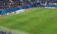 Zenit 3-1 Real Sociedad - Golo de E. Rigoni (5min)