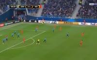 Zenit 3-1 Real Sociedad - Golo de A. Kokorin (60min)