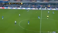 Everton 2-2 Apollon - Golo de Adrián Sardinero (12min)