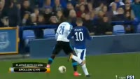 Everton 2-2 Apollon - Golo de Héctor Yuste (88min)