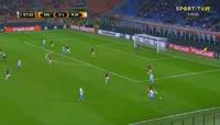 Milan 3-2 Rijeka - Golo de J. Elez (90min)