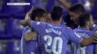 Miguel Angel Herrero Javaloyas scores in the match Valladolid vs Tenerife