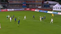 Christian Grindheim scores in the match Stabaek vs Valerenga