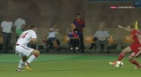 Ruslan Koryan scores in the match Armenia vs Denmark