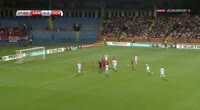 Christian Eriksen scores in the match Armenia vs Denmark