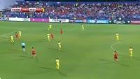 Stevan Jovetic scores in the match Montenegro vs Romania