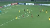 Akram Afif scores in the match Qatar vs China