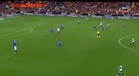 Goncalo Guedes scores in the match Valencia vs Alaves