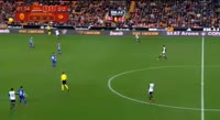 Rodrigo Moreno Machado scores in the match Valencia vs Alaves