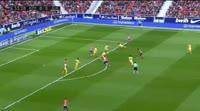 Antoine Griezmann scores in the match Atl. Madrid vs Girona