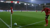 Janik Haberer scores in the match Freiburg vs RB Leipzig