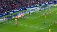 Cristian Portugues scores in the match Atl. Madrid vs Girona