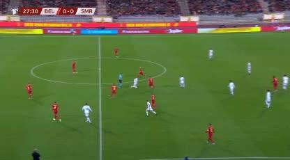 هدف أول ل بلجيكا (روميلو لوكاكو)