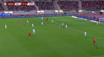 هدف رابع ل بلجيكا (روميلو لوكاكو)