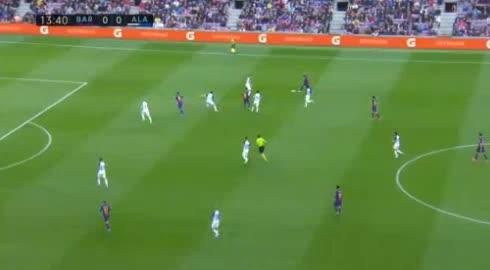 هدف أول ل برشلونة (أنطوان جريزمان)