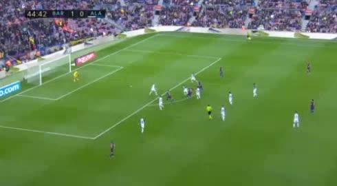 هدف ثاني ل برشلونة (أرتورو فيدال)