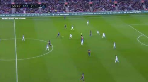 هدف ثالث ل برشلونة (ليونيل ميسي)